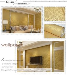 Vintage Classic Beige French Modern Damask Feature Wallpaper Wall paper Roll For Living Room Bedroom TV Backdrop-in Wallpapers from Home & Garden on Aliexpress.com | Alibaba Group