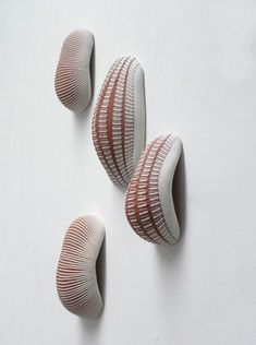 ceramic sculpture by enno jäkel #clay. This would be a great idea for handles.
