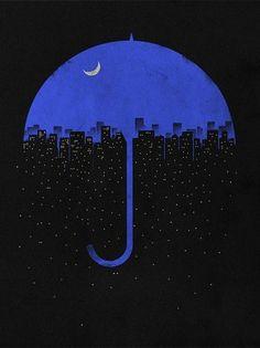 Ombrello blu per papa