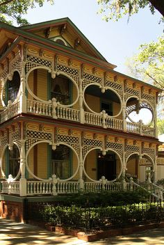 The Gingerbread House, located in Savannah, Georgia, was built in 1899 by Cord Asendorf. This incredible house is considered one of the finest examples of Steamboat Gothic architecture in the U.