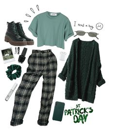 Green look outfit shoplook shoplook fashion set stpatrick holiday inspo outfit green style getthelook 1 or 2 shop classy outfits from my page with the app linked in my bio classyvision Fashion Mode, Teen Fashion Outfits, Mode Outfits, Aesthetic Fashion, Look Fashion, Aesthetic Clothes, Korean Fashion, Girl Outfits, Fashion Pants