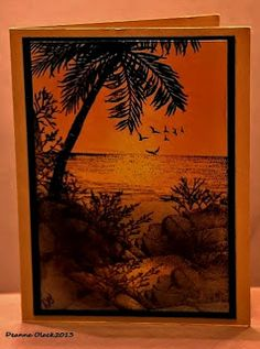 Up the Creative Creek:Tropical Sunset
