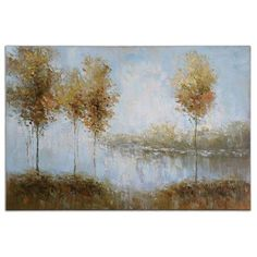 Uttermost Natural View Of The Lake Art Uttermost Wall Art Wall Art Home Decor
