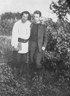 Rainer Maria Rilke and the Russian poet, Drozhin.  another pinner wrote: 'Rilke adored Russia and dreamed of eventually settling there some day, but it just wasn't to be.'