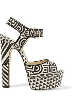 Shop on-sale Brian Atwood Karin printed elaphe platform sandals. Browse other discount designer Sandals & more on The Most Fashionable Fashion Outlet, THE OUTNET.COM