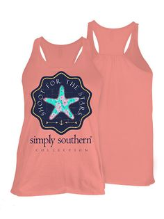 Simply Southern Shoot For The Stars Tank - Pink from Chocolate Shoe Boutique
