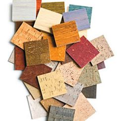 Cork tiles come in 12-inch squares or 12-by-24-inch rectangles. Consider six patterns and 36 color options, too. 800-404-2675; usfloorsllc.com.