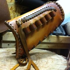 Gun stock cover - leather