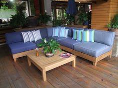 Sala bandolero!! tu escoges cuantos modulares necesitas y la tela sunbrella que más te guste!!   Visítanos en la 13 calle 5-72, zona 10. Guatemala o comunícate con nosotros al (502) 2206-5454.