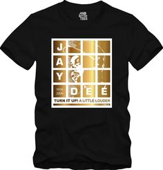 J Dilla MPC Gold Pads Portrait T-Shirt Graphic Tee Hip-Hop turn it up!, Jay Dee, Madlib, Stones Throw, danger doom