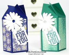 Stampin' Up! Demonstrator Pootles - Twist & Close Easy Delightful Daisy Box
