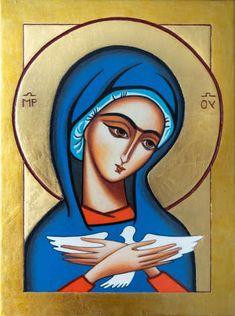 Religious Pictures, Religious Art, Holy Mary, Blessed Virgin Mary, Art Icon, Orthodox Icons, Art For Art Sake, Angel Art, Sacred Art