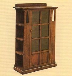 Arts and Crafts Mission Oak Bookcase with side shelves – Crafters & Weavers