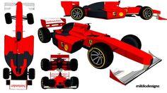 Scuderia Ferrari F1 Car in sketchup