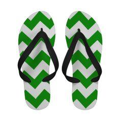 Chevron Stripe Flip Flops