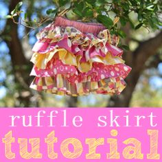 Little girls' ruffle skirt