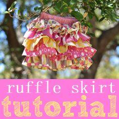 Little girls' ruffle skirt