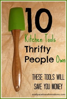 10 Kitchen Tools Thrifty People Own: Want to save money in the kitchen? It starts by having the right thrifty tools. Kitchen Hacks, Kitchen Tools, Kitchen Gadgets, Kitchen Things, Kitchen Stuff, Money Tips, Money Saving Tips, Saving Ideas, Money Savers