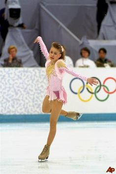 Oksana Baiul of the Ukraine on her way to a gold medal at the 1994 Olympic Winter Games in Lillehammer.
