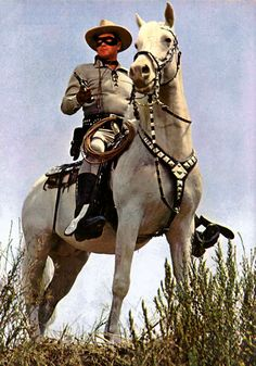 One very good looking horse and The Lone Ranger.soon to ride again with Johnny Depp as Tonto= Hi Ho Silver! Tv Westerns, The Lone Ranger, Online Photo Gallery, Cowboys And Indians, Cowboy Art, Western Movies, Old Tv Shows, Vintage Tv, Le Far West