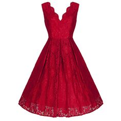 Red Embroidered Lace Swing Dress – Pretty Kitty Fashion