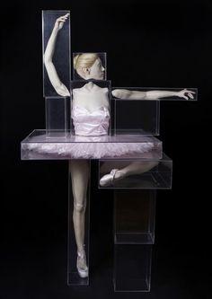 darksilenceinsuburbia:  Monica Piloni. Ballerina, 2007. Fiberglass, paint, hair, ocular prothesis, crylic boxes, 222 x 95 x 110cm. Instituto Figueiredo Ferraz.   Website