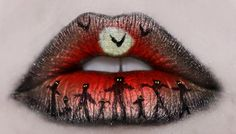 Zombie lips.