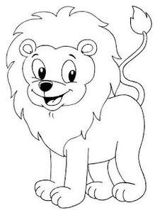löwe ausmalbild - ausmalbilder für kinder | afrika schule