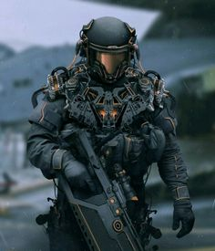 Warrior Concept Art by Stefan Celic..This outfit would fit in well in a futuristic movie..😎😎