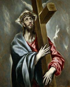 Cristo abrazado a la cruz (El Greco, Museo del Prado) - Anexo:Obra de El Greco - Wikipedia, la enciclopedia libre