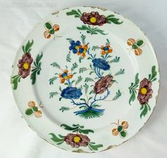 18th C Delft Polychrome Charger