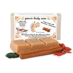 Gnosis: Chocolate Cinnamon Superfood Soap. Getting Clean Is Oh-So Sweet! http://www.honeycolony.com/product/gnosis-chocolate-cinnamon-superfood-soap/