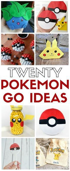 Top 20 Pokemon Party and Craft Ideas Fun Pokemon Go Craft ideas that will keep you hunting even when the game app is off! Great party ideas and boredom busters. Monster Party, Pokemon Go Crafts, Pokemon Gifts, Festa Pokemon Go, Theme Mickey, Fun Crafts, Crafts For Kids, Craft Tutorials, Craft Ideas