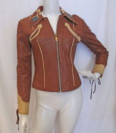 Vintage 1970s EAST WEST Musical Instruments Leather Rock n Roll Jacket