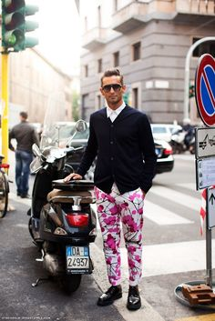 Man in floral trousers... I think I like it??