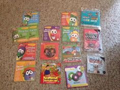 Large Lot Of Children's Cds Veggie Tales/Crafty Critters/Karaoke/Games