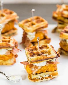 I just love chicken and waffles  #waffles #food #yummy #breakfast #delicious #eating #good #2016 #chickenandwaffles #sandwiches #bacon #bitesize by pancakezandwafflez