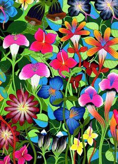 Puzzle Tinga Tinga Art From Africa: Flowers Scatola 1000Pz