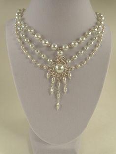 Collier de mariée collier de perles par IrisJewelryCreations