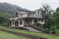 Disused railway station on the track between Curitiba & Paranagua, Brazil