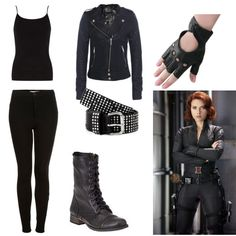 Great Black Widow-inspired entry in the Super Powers fashion mission #fashion #contest #outfit #style