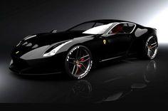 Ferrari GTO BLACK, so beautiful.