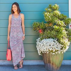 Love this Neela Maxi Dress from Stitch Fix! Great colors and love the circular pattern and the long length plus flowy drape.