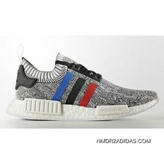 fe6a42529a710 Adidas NMD R1 Primeknit Tri-Color White Core Red Core Black BB2888 Outlet