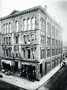 Founded in 1880, the Bridgeport Public Library was established in the Burroughs building on the corner of Main and John streets. Today the Burroughs-Saden Branch of the Bridgeport Public Library is housed on Broad Street in a building erected in 1927.