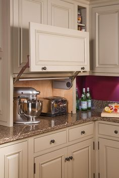 hide the appliances, but still keep them easily accessible!
