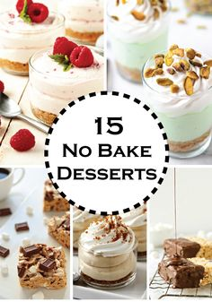 Make any of these delicious No Bake Desserts – pin and save for a quick reference any day!