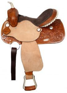 031e93e583b Double T Floral Tooled Barrel Saddle – Hay River Tack and Supplies Barrel  Racing Saddles