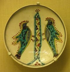 Kutahya Plate Two Birds Kutahya Pera Museum Istanbul Turkey Pottery Bowls, Pottery Art, Ceramic Shop, Turkish Art, Two Birds, Ceramic Birds, Islamic Art, Decorative Plates, Museum