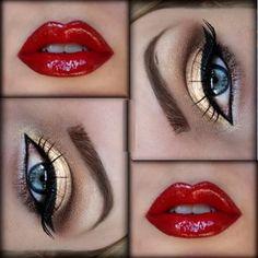 maquillaje de la mujer maravilla paso a paso